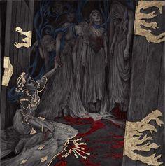 Art of the Sublime. Fantasy, Sci-fi, and Horror illustration in ballpoint pen. Blue Fairy, Gold Art, Environmental Art, Horror Art, Dark Art, Art Inspo, Fantasy Art, Fairy Tales, Concept Art