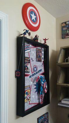 Marvel Superhero Bathroom! Captain America Shadow Box