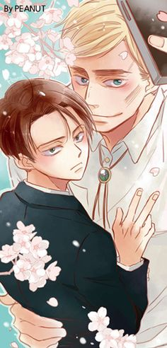 """tsukareta-levi: """"Art by Peanut on pixiv: エルリ落書き ※ Posted with written permission ※ Do not repost or remove the source """""""