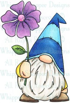 Christmas Gnome, Christmas Crafts, Stone Painting, Painting & Drawing, Gnome Paint, Rock Painting Designs, Rock Crafts, Watercolor Cards, Whimsical Art