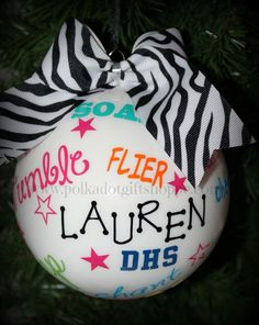 cheerleading craft gifts | Cheer Ornament Christmas Gifts for Cheerleaders Cheerleader Gifts ...
