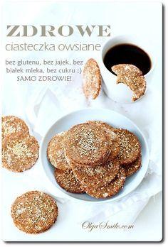Zdrowe ciasteczka owsiane Carbonara Sauce, French Toast, Pancakes, Gluten, Breakfast, Food, Morning Coffee, Essen, Pancake