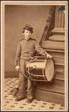 CDV of Unidentified Union Drummer Boy.