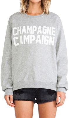 "Private Party ""Champagne Campaign"" Sweatshirt in Gray 