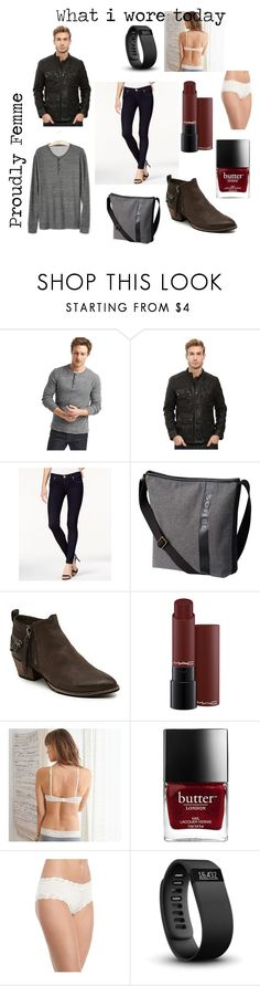 """What i wore today"" by genderschmender ❤ liked on Polyvore featuring Gap, Lucky Brand, True Religion, SOREL, Aerie, Maidenform, Fitbit, genderfluid and transgenderfashion"