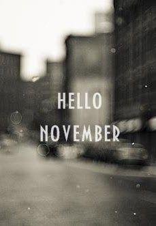 Bonjour Novembre- new blog post