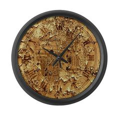 Clock face distressed Large Wall Clock