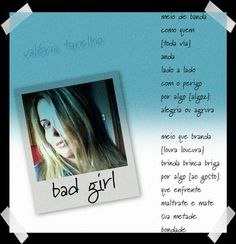 "poema ""bad girl"""