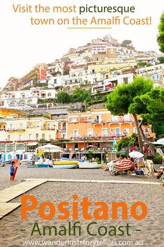 A postcard-perfect colourful vertical town set in the shelter of mountains. Boasting a brilliant contrast of an array of vibrant colours against the dramatic blue of the Mediterranean Sea. Positano in Italy is definitely Amalfi Coast's most picturesque town and, in our opinion, happens to be the best town to stay in Amalfi Coast!  Read more on http://wanderluststorytellers.com.au