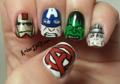 Amber did it!: Avengers Nail Art