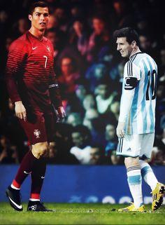 """""""""""Hell and Heaven"""""""""""" messi, lionel messi, fc barcelona, barcelona, barca, cristiano ronaldo, cr7, argentina, portugal, soccer, football, futbol, respect."""