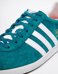 Shop adidas Originals Gazelle Teal Trainers at ASOS.
