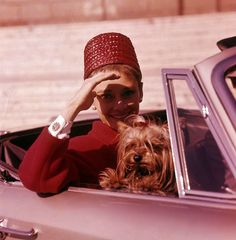 The actress Audrey Hepburn photographed with Mr. Famous (her Yorkshire Terrier) by Pierluigi Praturlon at Piazza Guglielmo Marconi in Rome (Italy), in March Audrey was wearing: Audrey Hepburn Born, Katharine Hepburn, Grace Kelly, Diahann Carroll, Faye Dunaway, I Believe In Pink, Isabella Rossellini, Charlotte Rampling, British Actresses