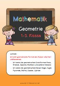 Lernzieltraining Geometrie für die 1. bis 3. Klasse