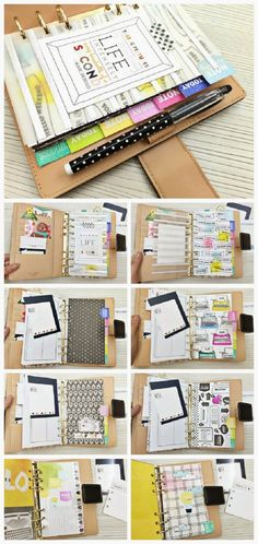 How To Make Your Own Rainbow Planner - 16 Well Ordered DIY Planner and Journal Tutorials | GleamItUp