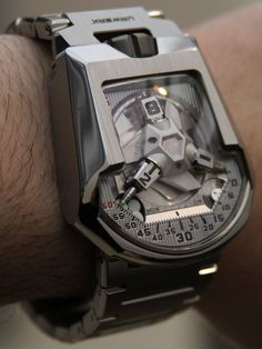 #steel #watch by #Urwerk