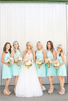 Mint bridesmaid dresses @weddingchicks