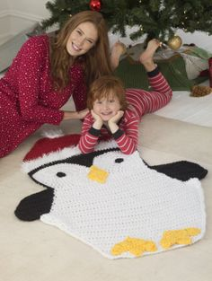 Image of Holiday Penguin Afghan