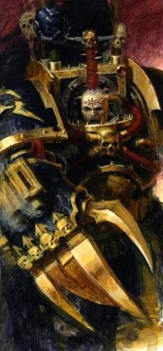 Chaos Space Marine || Abaddon the Despoiler || WarMaster || Artist Unknown