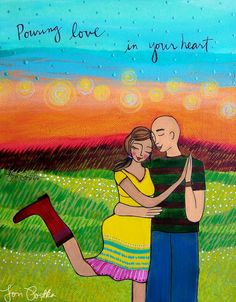 Print  Pouring Love in your Heart by loriportka on Etsy, $25.00