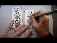 Inkidoodles.com  Melinda Barlow CZT : Heartthrob Tangle Lesson Pattern #137