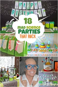Mad Science Birthday Party Ideas for Boys www.spaceshipsandlaserbeams.com #partyideas #boypartyideas