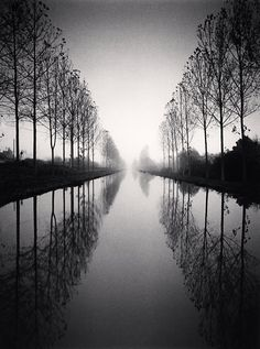 French Canal, Study 2, Loir-et-Cher, France. 1993 ©Michael Kenna