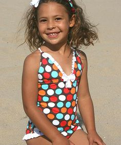 Look at this Brown & Blue Spot-On One-Piece - Toddler & Girls on #zulily today!