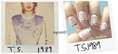 Taylor Swift 1989 Nail Art!! This is AMAZINGLY AWESOME! Wish I could do that..