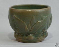 "Nelson McCoy 1934 Leaf & Berry Vase 3.5"" tall/ ebay"