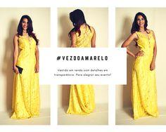 Vestido em renda com leves transparências! Modelo: Mayara Motta Foto: Benhur Studio