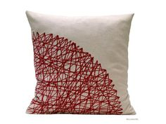 Marsala color cushion by BeccaTextile