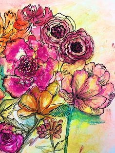 Chalk pastels alone are a really fun supply but when you mix pastels with water . Chalk pastels alone are a really fun supply but when you mix pastels with water you are able to use Chalk Pastel Art, Pastel Artwork, Oil Pastel Art, Pastel Watercolor, Pastel Drawing, Chalk Pastels, Chalk Art, Painting & Drawing, Encaustic Painting
