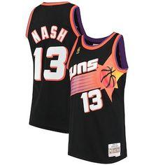 7a22be67806e Men s Phoenix Suns Steve Nash Mitchell   Ness Black 1996-97 Hardwood  Classics Swingman Jersey