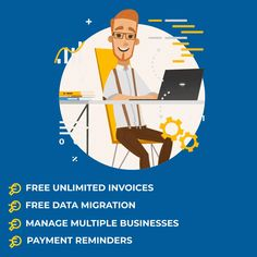 Moneypex is free accounting software online for 14 days, to create invoices, track expenses, manage suppliers, scan documents and file VAT returns. Free Accounting Software, Data Migration, Create Invoice, Cloud Based, Business, Store, Business Illustration