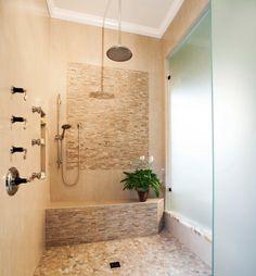 Like this tile design. *** 30 Irreplaceable Shower Seats Design Ideas