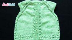 ŞİŞLE DEĞİŞİK BEBEK YELEK YAPILIŞI TÜRKÇE VİDEOLU | ÖRGÜVAKTİ Crochet Baby, Vest, Tops, Dresses, Fashion, Vestidos, Moda, Fashion Styles, Dress