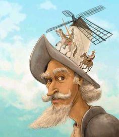 "regram ""Until death it is all life"" Don Quixote Character Drawing, Character Design, Man Of La Mancha, Dom Quixote, Illusion Pictures, Illusion Art, Children's Book Illustration, Aesthetic Art, Art Inspo"