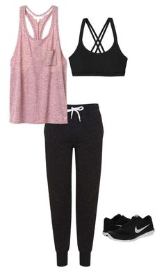 """Untitled #14"" by abby-ang on Polyvore featuring Topshop, Victoria's Secret, Patagonia and NIKE"