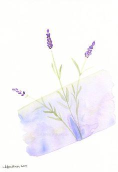 Original watercolor flower painting: Lavender Love
