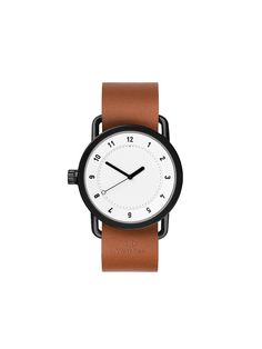 TID Watches Sverige - TID No. 1 White / Tan Leather Wristband
