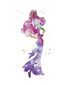 Megara Print Hercules Art Megara Art Nursery Disney Princess | Etsy