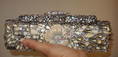 Handcrafted Jeweled CRYSTAL Evening BAG PURSE