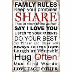 Family Rules | Spreuken | Stoer en Sfeer