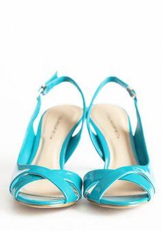 Southern Belle Charm Heels   Teal heel sandals  sweet