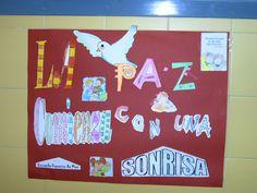 """DÍA DE LA PAZ EL colegio """"Reyes Católicos"""" es un gran espacio de Paz Placa concedida por la junta de Andalicía a nuestro cole  M..."""