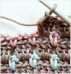 Crochet block stitch aslo known as chocolate box stitch More