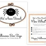 """The TomKat Studio: You've Been BOOED! Free Printable """"We've Been BOOED"""" Sign & Instructions!"""