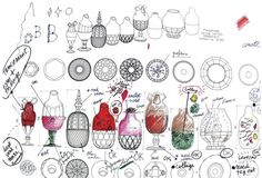 sketches Jaime Hayon for Baccarat