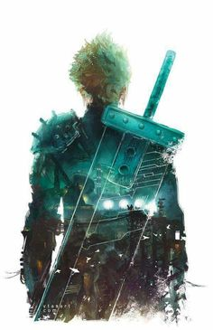 Cloud Strife - Midgar Art